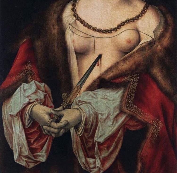 The Suicide of Lucretia by Joos Van Cleve, 1520-1525