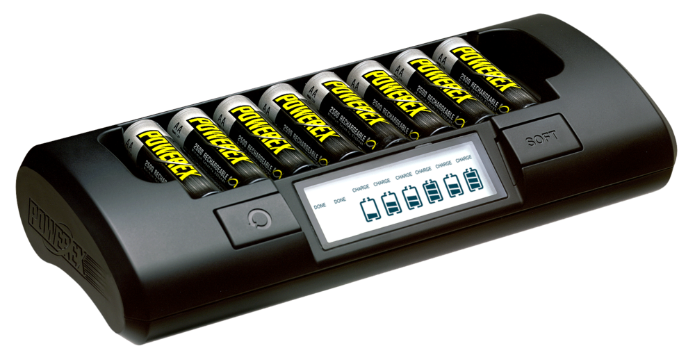 This powerex charger is a very nice option if you need an army of batteries for your recorder and/or wireless kits.