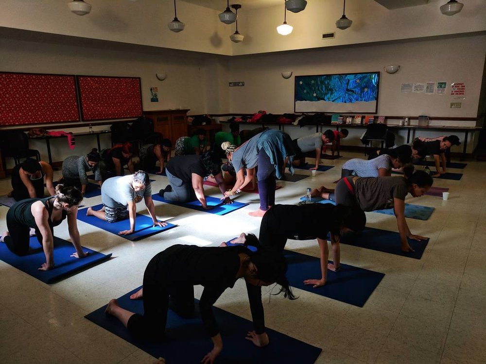 Jyll has been teaching a free yoga class every Saturday at Bedford branch of Brooklyn Library