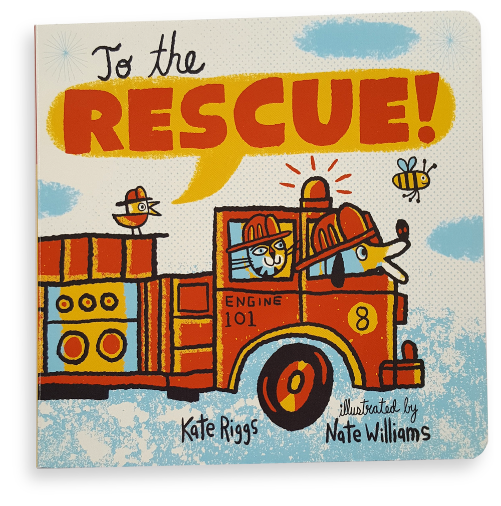 To the Rescue! - A board book for young readers published by Creative Editions.AVAILABLE ON AMAZON