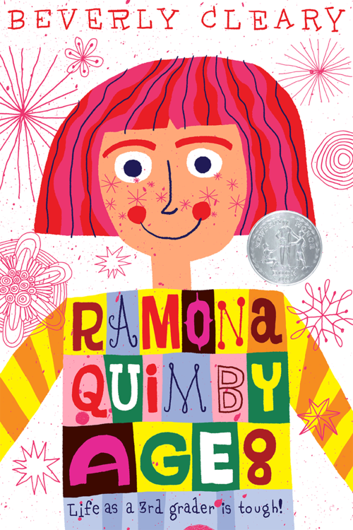 Cover illustration and lettering for Beverly Cleary's Ramona Quimby Age 8 (not used)