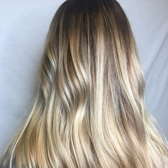 Red or blonde, this girl looks good either way. #kevinmurphy #kevinmurphycolorme #balayage #stlhairstylist #stlhair #blondehair