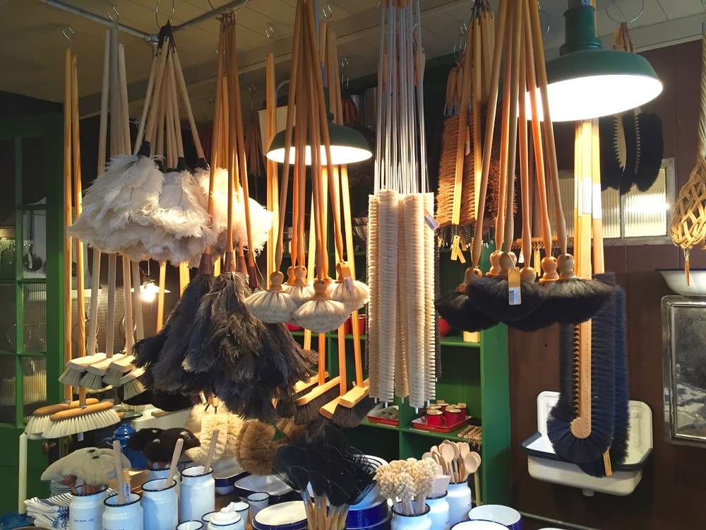 There's an abundance of Brooms, Dusters & Brushes.