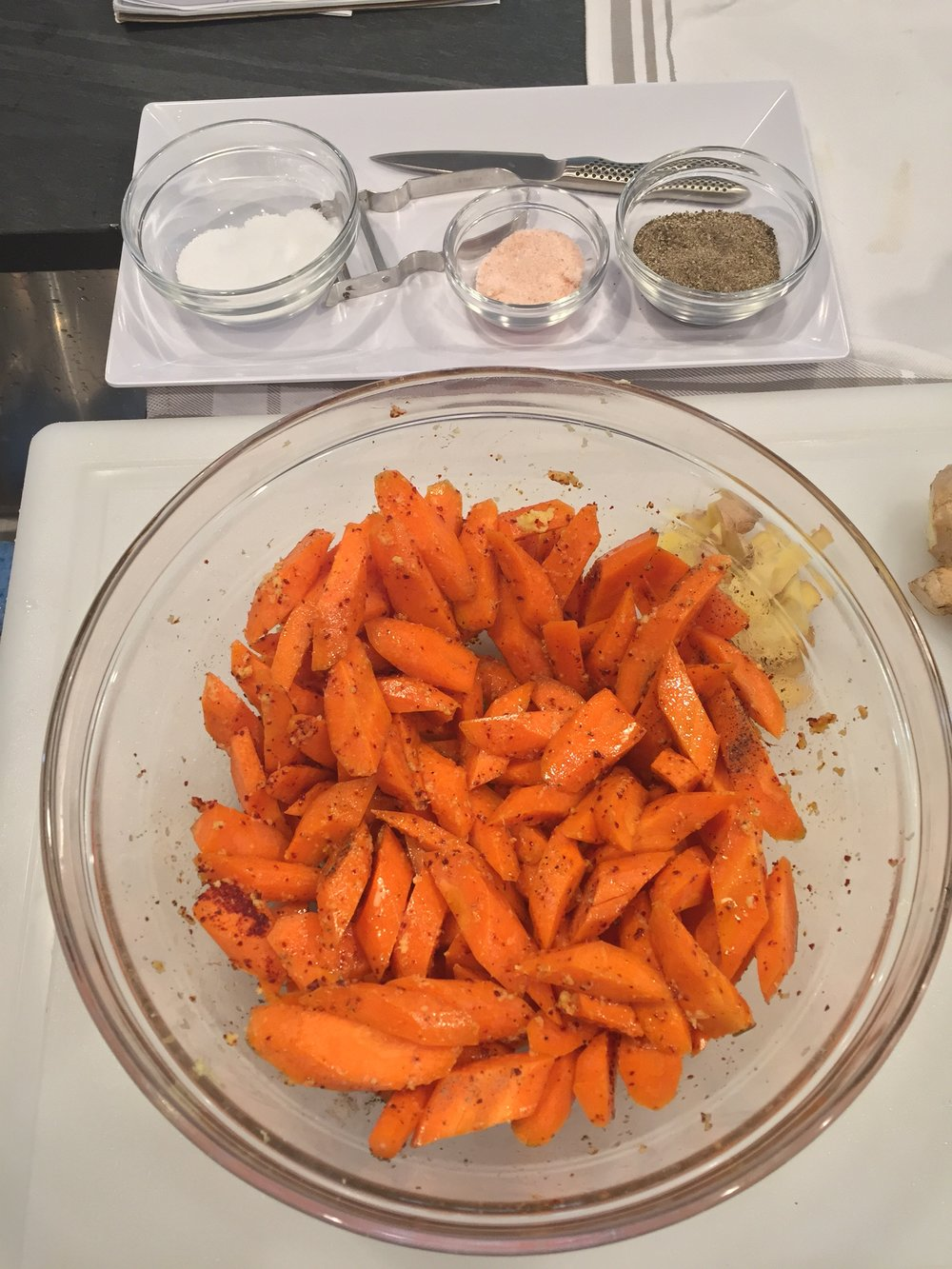 Roasted carrots with spices