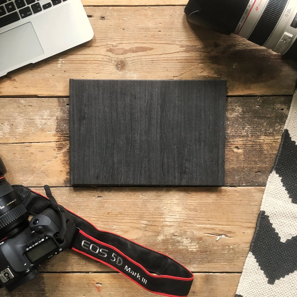 The wood-slate look cover looks and feels very well made.
