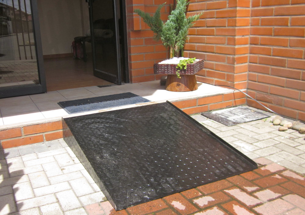 Our specially designed, hand made ramp allowed easy access to our clinic.