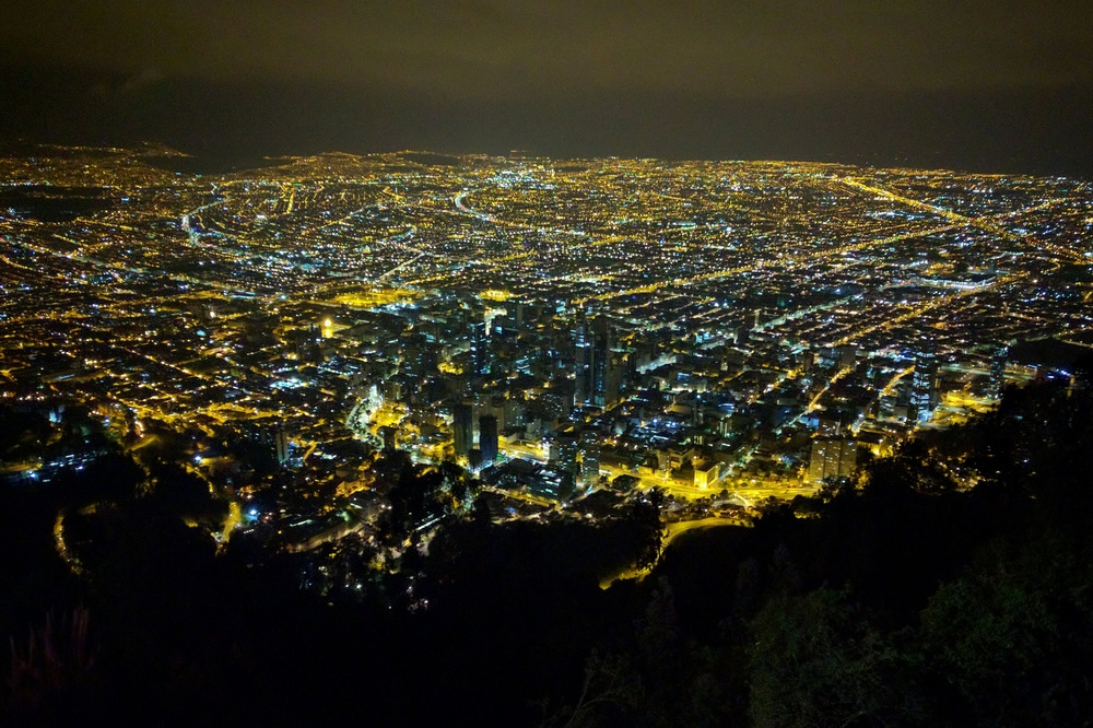 Monserrate, Bogotá. A great place for a pensive dinner.