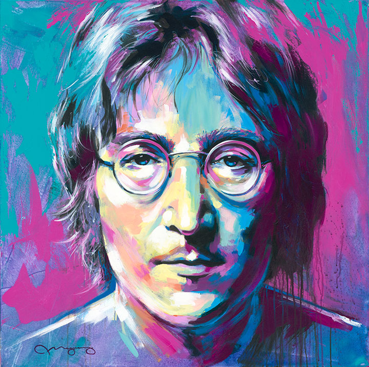 "Lennon36"" x 36"" acrylic on canvas25% OFF -"