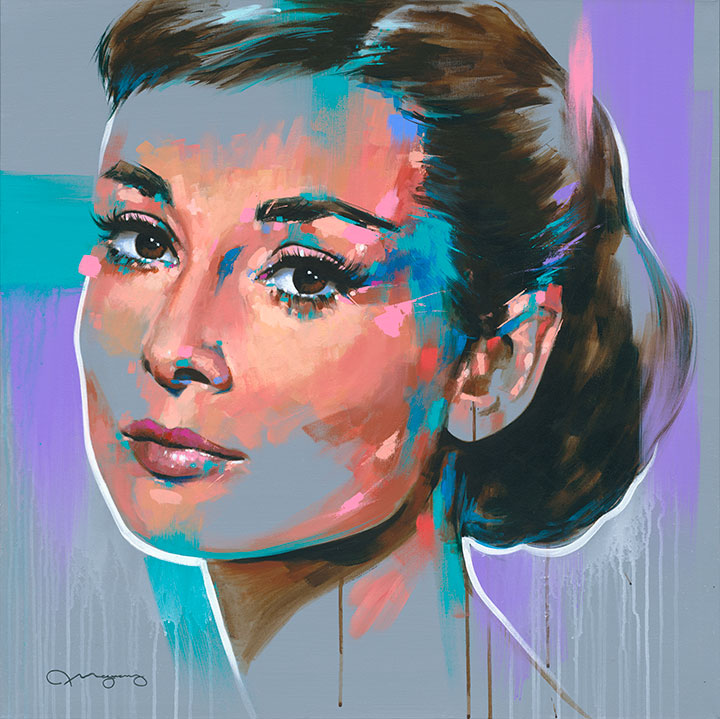 "Audrey #236"" x 36"" acrylic on canvas25% OFF -"