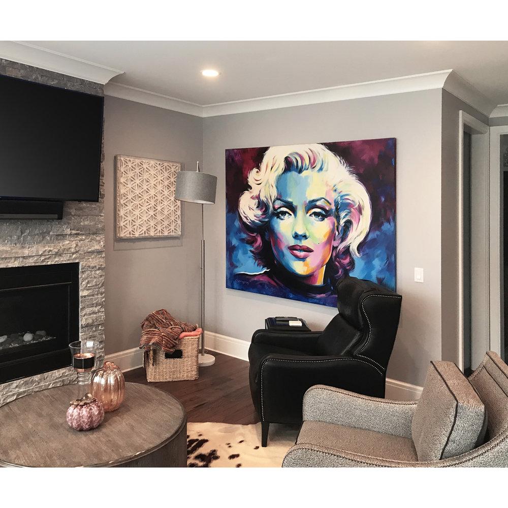 """Marylin Monroe, 72"""" x 60"""", acrylic on canvas"""