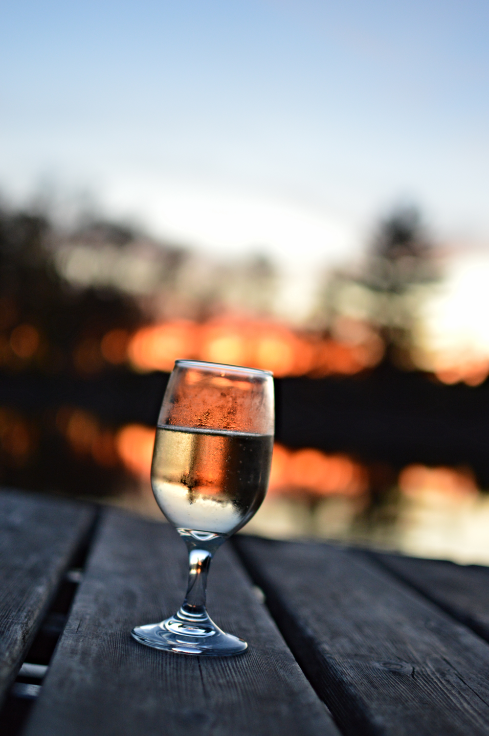 Peaceful - wine and sunsets: two things that will always go together!