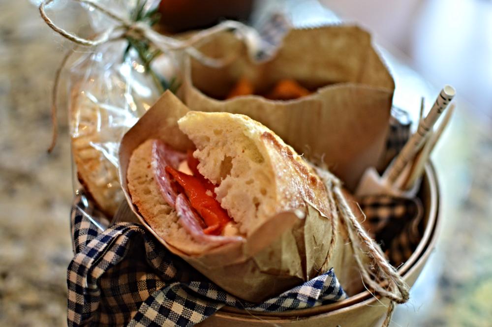 Individual picnic baskets