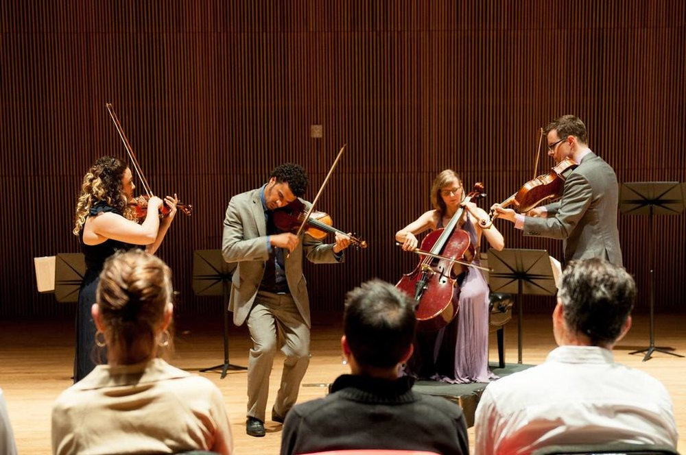 Performing at the DiMenna Center with PUBLIQuartet and the Ozaki cello