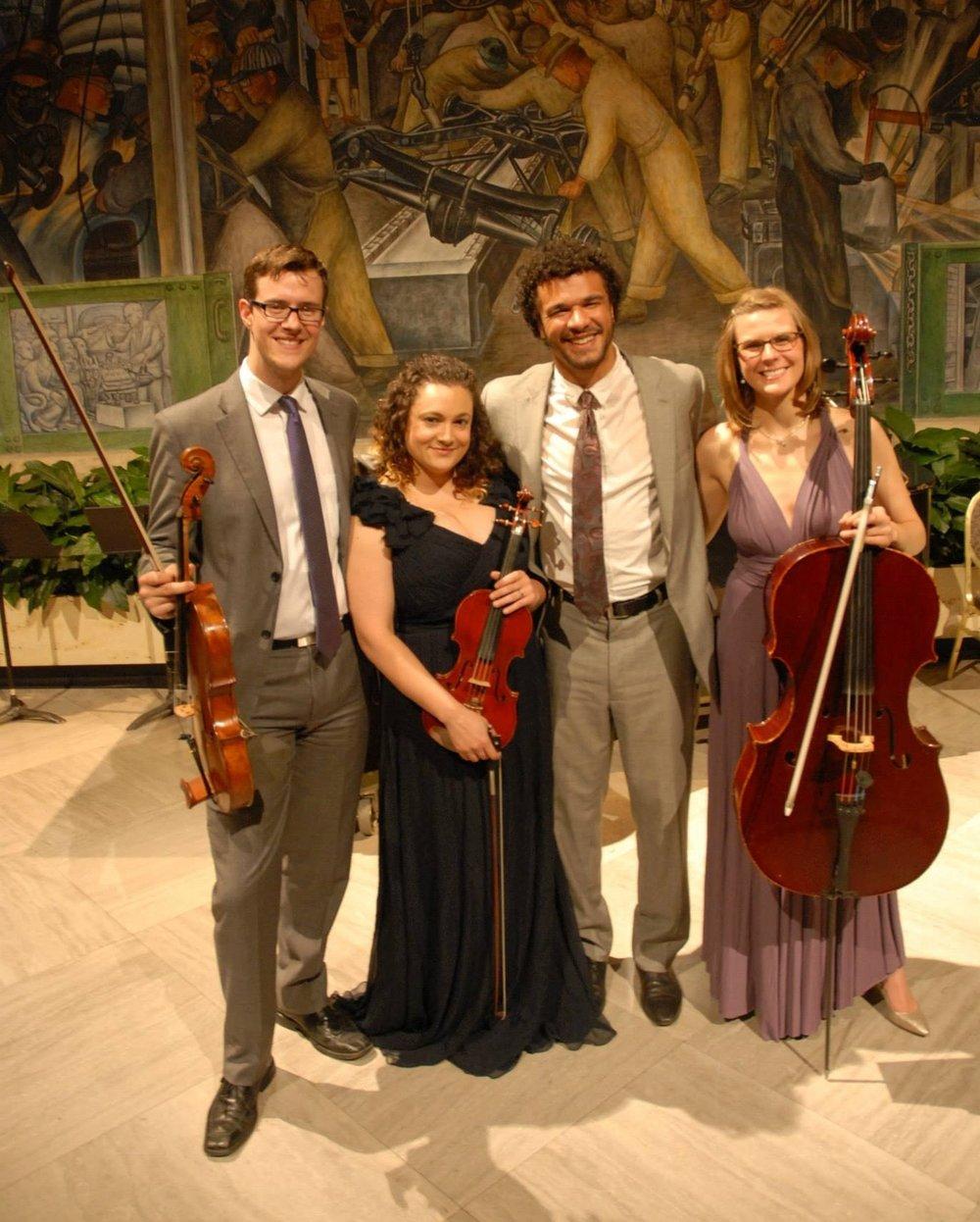 Post-Ligeti Quartet concert with the Ozaki cello and PUBLIQuartet at the Detroit Institute of Arts