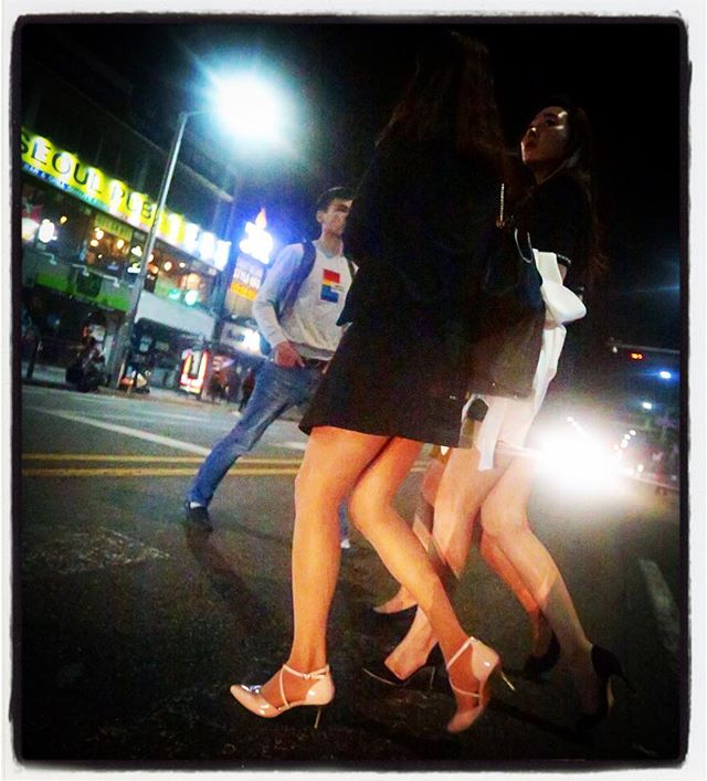 Midnight in Itaewon.