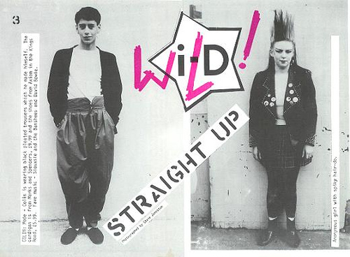 "The first street fashion picture, featured in the ""Straight Up"" column of    i -D     magazine in 1980."
