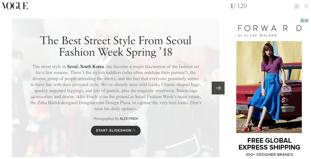 Vogue.com's coverage of Seoul Fashion Week in October, 2017. SFW is a  de rigeur  stop now in international fashion circles.