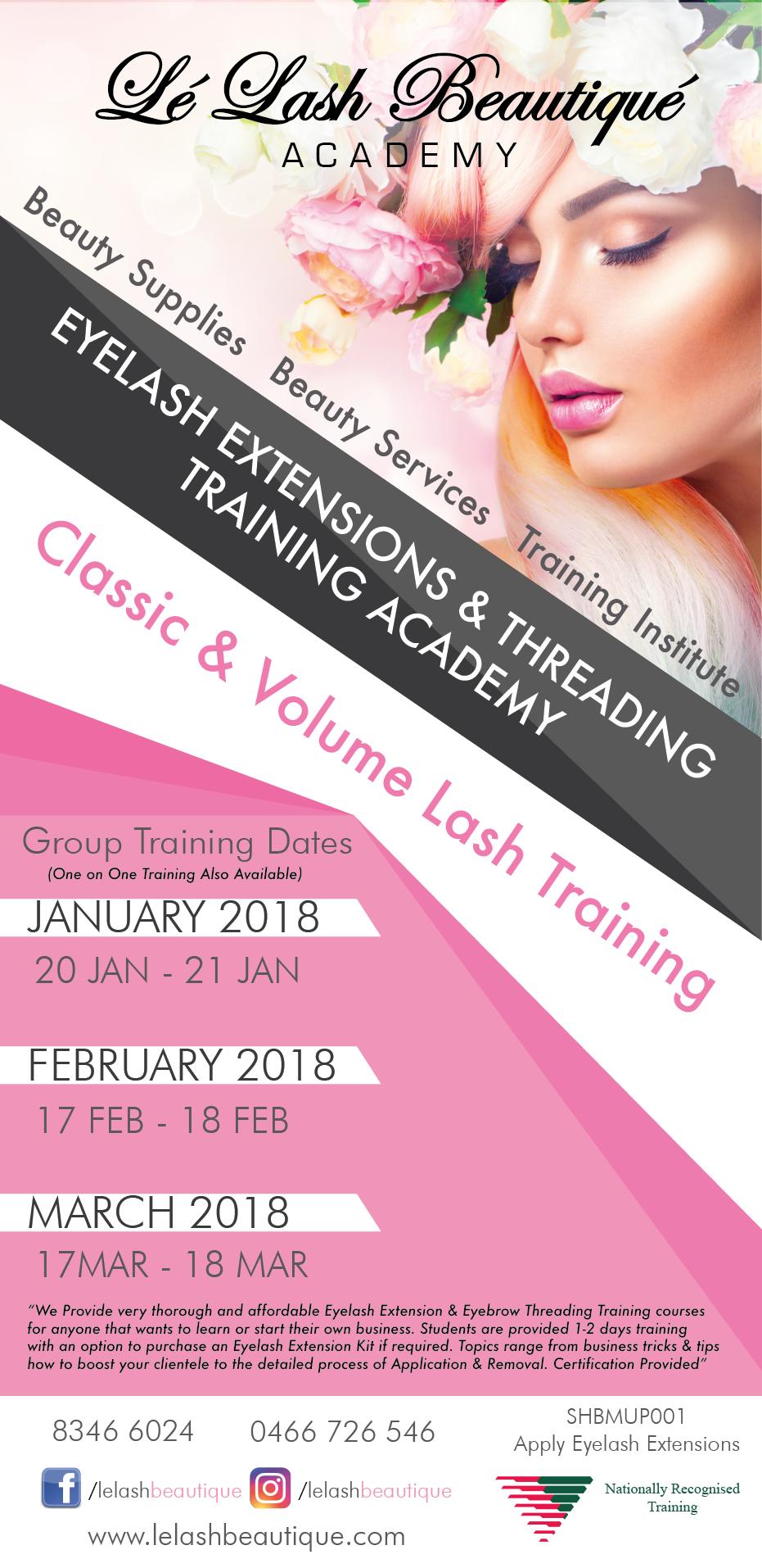 Melbourne Group Eyelash Extension Classic Training L Lash