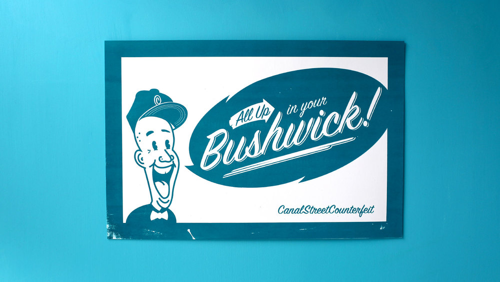 All up in your Bushwick! (marine blue)