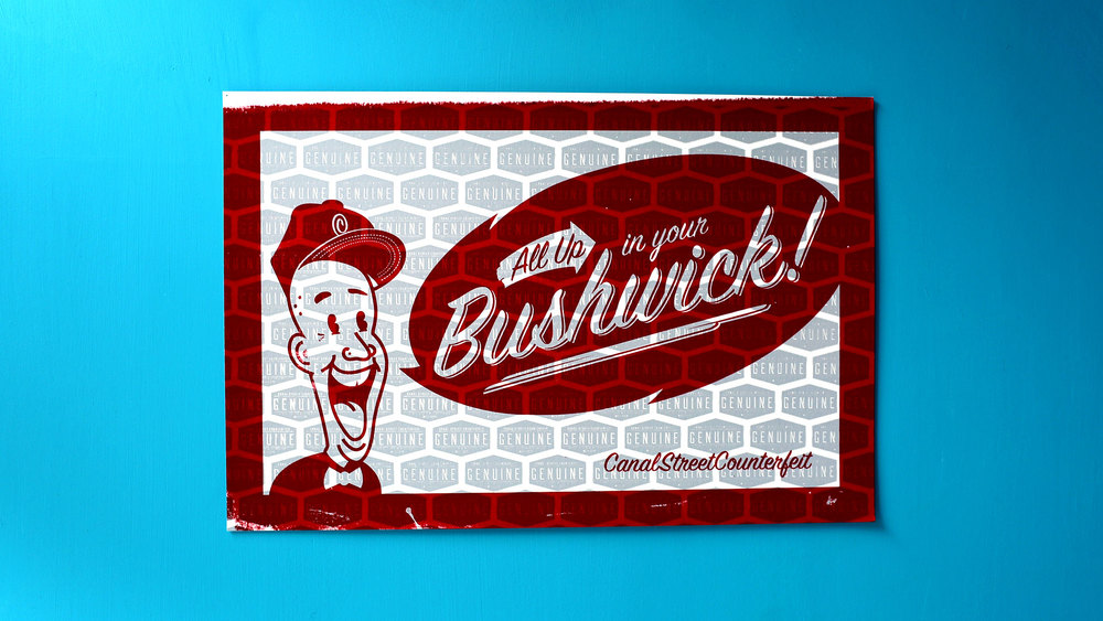 All up in your Bushwick! (csc red/light grey)