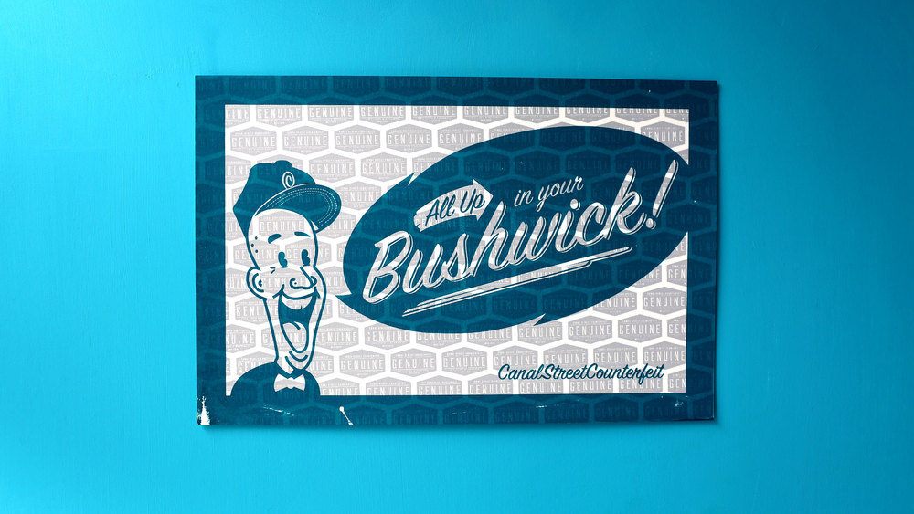 All up in your Bushwick! (marine blue/light grey)