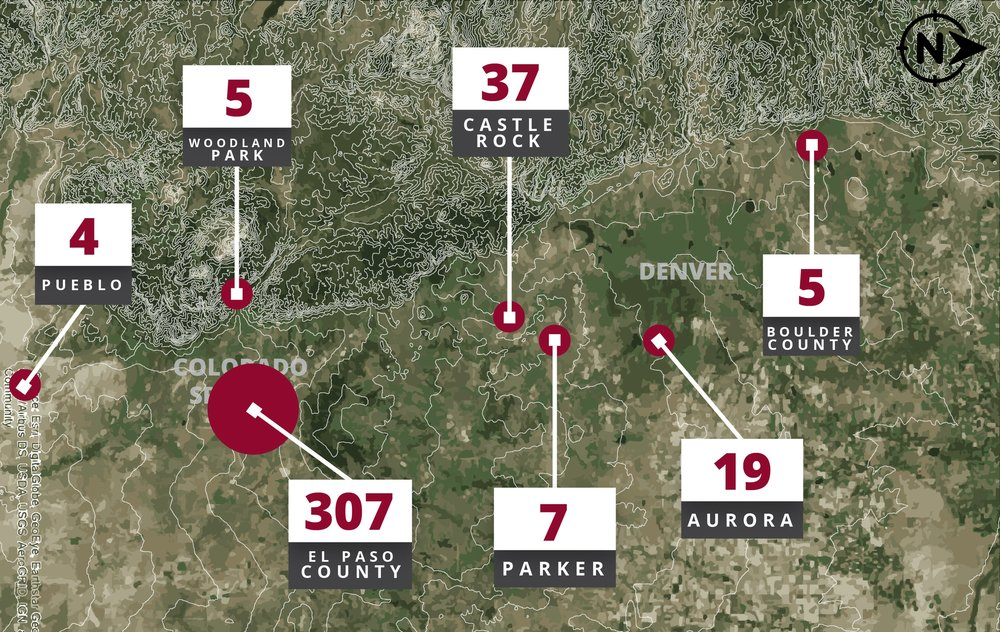 Projects in the past 10 years along the Front Range of Colorado
