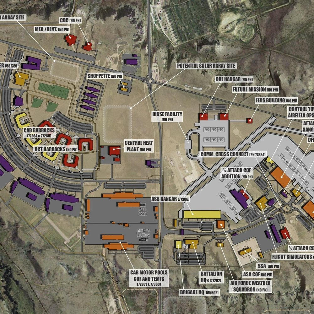 FORT CARSON AIRFIELD AREA DEVELOPMENT PLANS - Fort Carson, CO