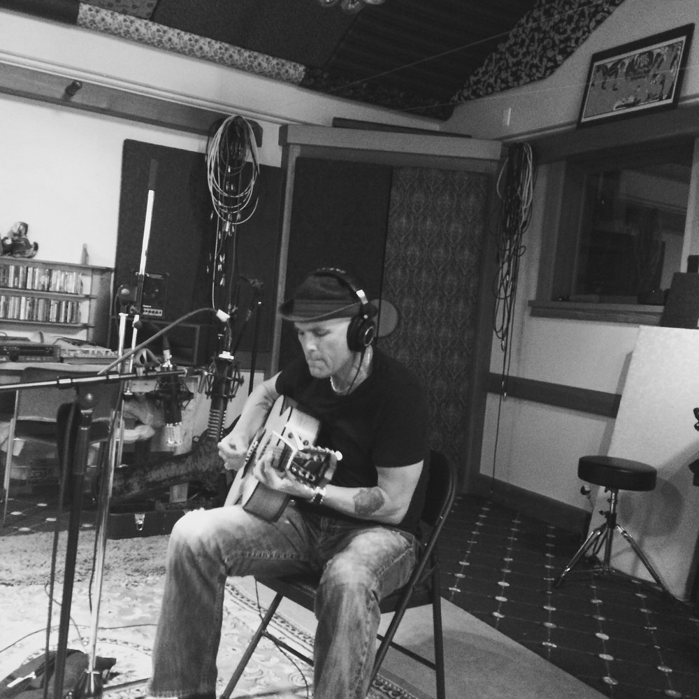 Brady Laying down guitars for Brady Wayne Sessions