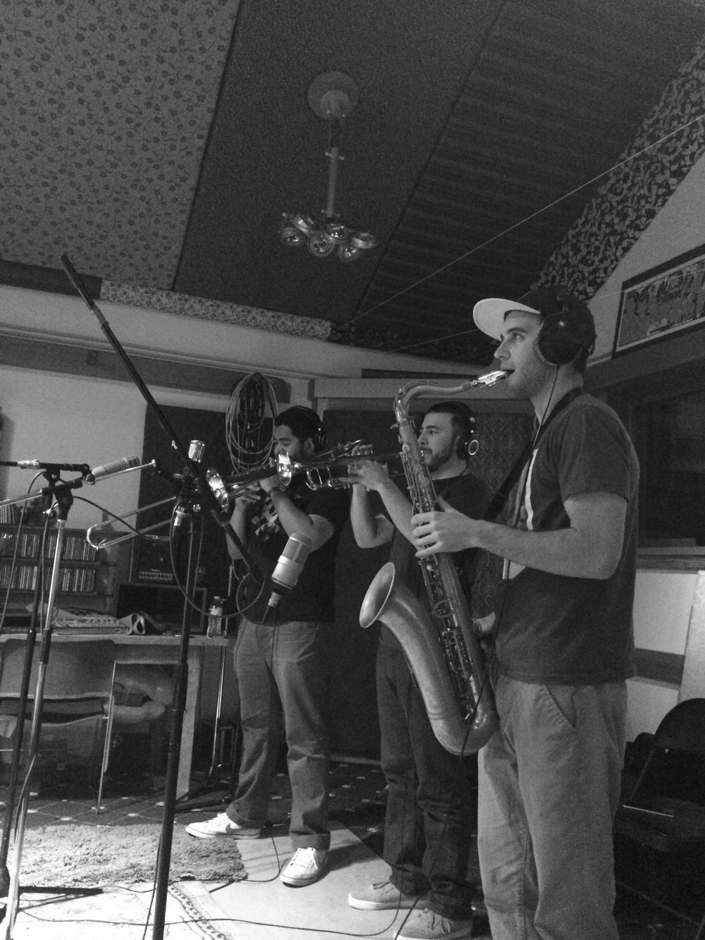 Horn section for Brady Wayne Sessions