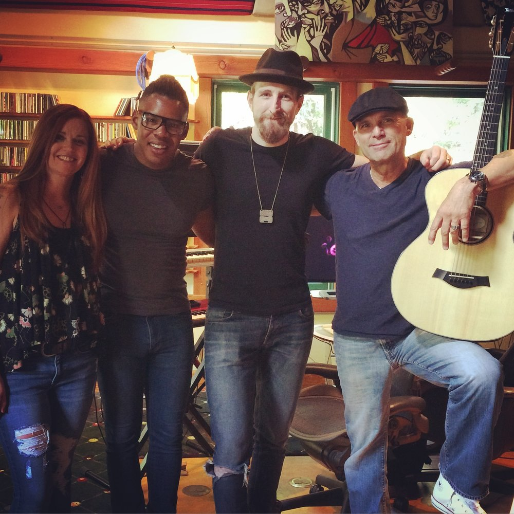 Brady Wade, Nic Capelle, Desi Valentine and Erin Wade in the Studio