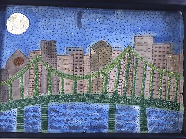 Tobin Bridge Skyline by Maryellen Cahill