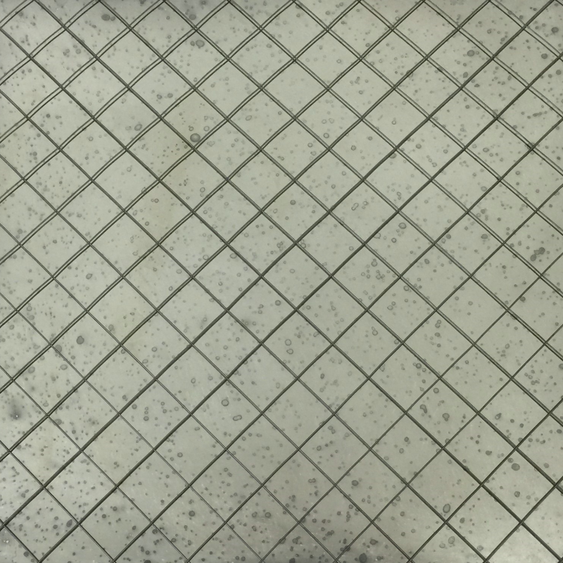 ARGENT on Polished Diamond Wire Glass — Glass Artistry