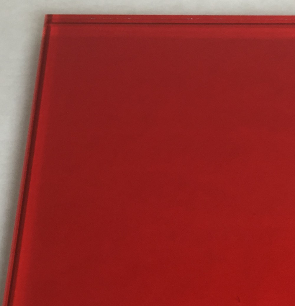 Laminated glass with custom red innerlayer.     IMG_6081 (2).JPG
