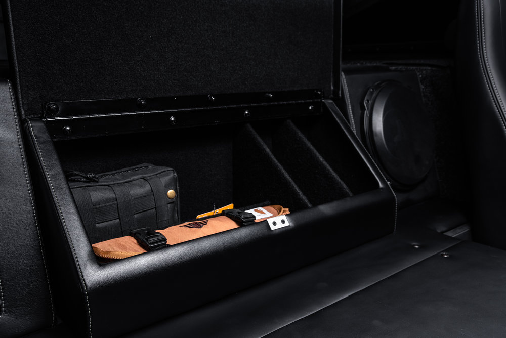 The tool-box features an optional survival kit with fitted accessory components.