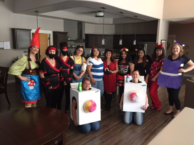 Halloween fun with staff