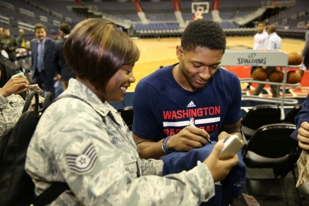 PHOTO FROM THE OFFICIAL BLOG OF THE WASHINGTON WIZARDS