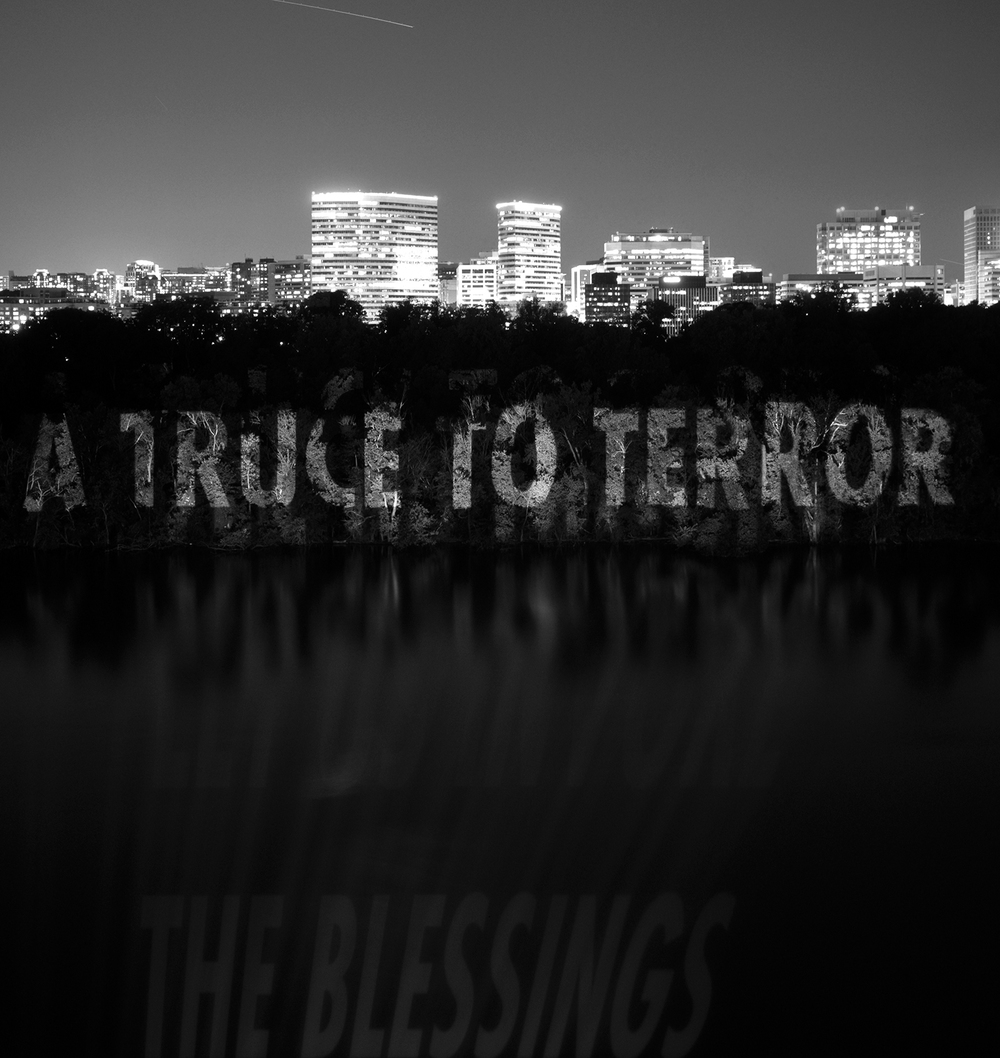 Projections. A TRUCE TO TERROR, 2007 by Jenny Holzer in Washington, DC.
