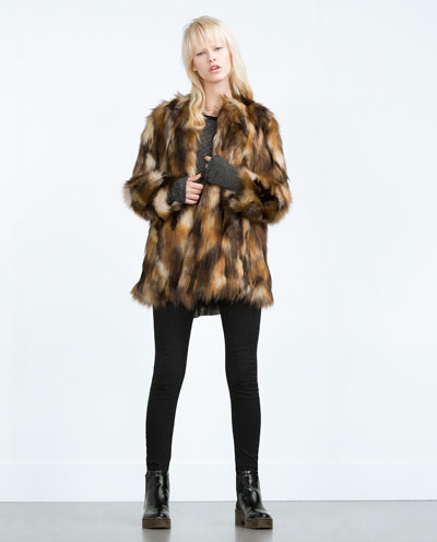 Zara Faux Fur Jacket  (a STEAL! You're welcome)