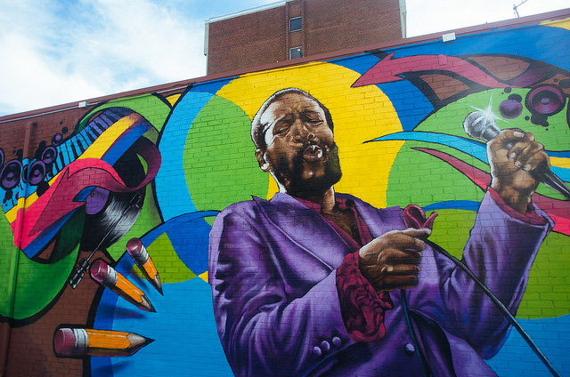 The Marvin Gaye Mural is now located at 7th and S Streets NW.