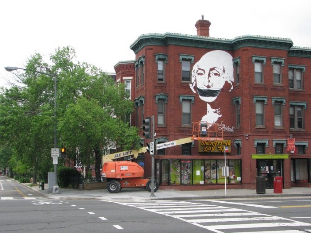 """Gagged Washington"" is located at 1502 U Street NW."