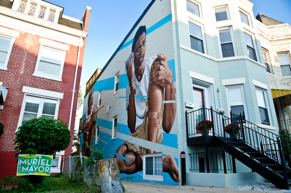 Tin-Can Telephone. James Bullough, 2014. 3609 13th St., NW.
