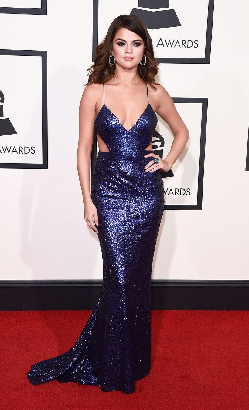 Selena Gomez Dress: Calvin Klein Earrings: Norman Silverman Diamonds Ring: David Webb