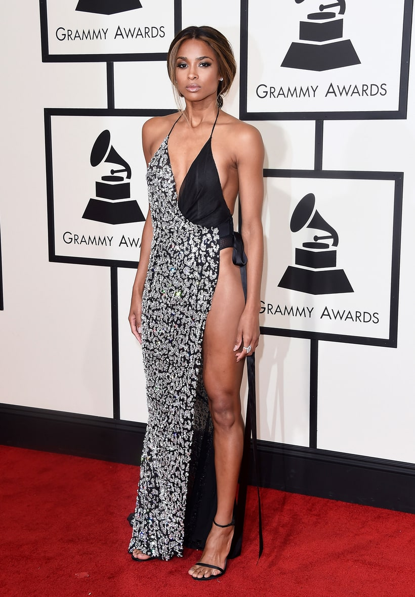 Ciara  Dress: Alexandre Vauthier  Jewelry: Norman Silverman Diamonds