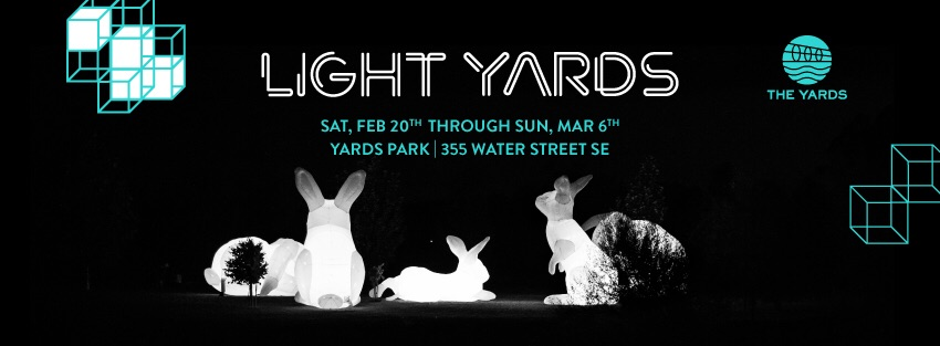 The innovative art installation spanning two weeks and three weekends at The Yards Park will kick off on Saturday, February 20 from 7pm to 10pm with a large-scale projection mapping visual display set to the beat of a live DJ set.  Yards Park 355 Water Street SE Washington, DC 20003.