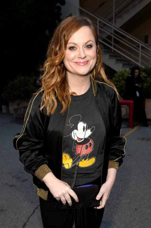 Amy Poehler looks likes she's going to Disney World.