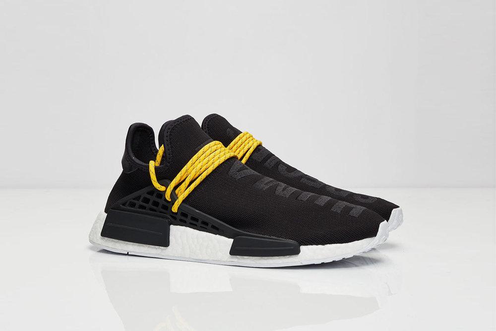 Adidas nmd rt pk j primeknit glitch mimetico nero / blu sz 4