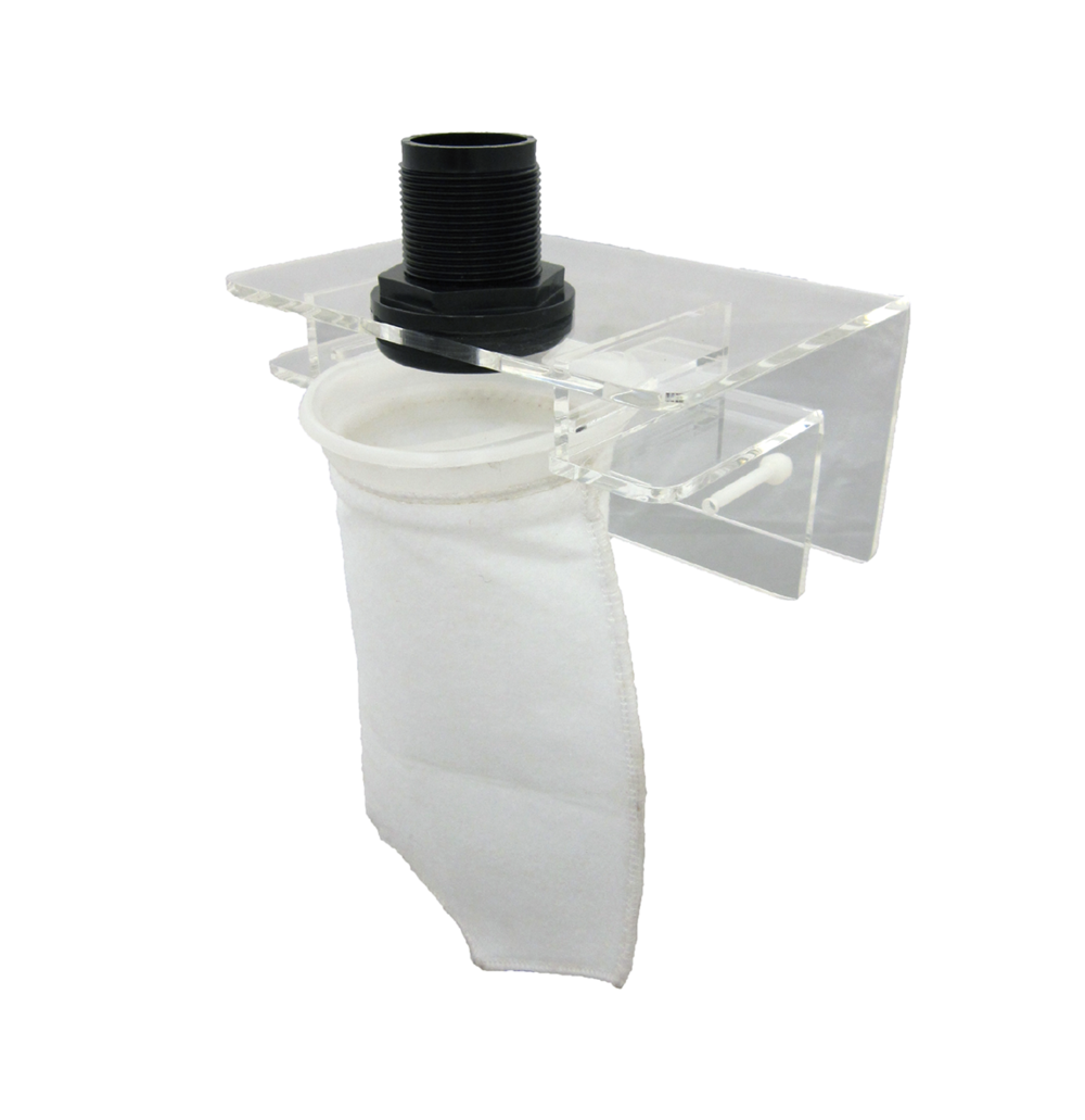 "Small Micron Bag Holder   SKU#: AM87801  UPC#: 7-49729-87801-8  Package Dimension: 7""x4""x6.5""  Product Dimension: 6.5""x5.5""x4""  Capacity: Up to 40 Gallon  Bulkhead Size: 1-Inch  Master Carton Dimension: 14x14x14""  Master pack: 12pcs."