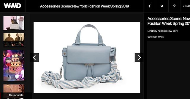Thank you @wwd for including #lindseynicoleny in your Accessories Scene: New York Fashion week round up! 💕 . . . . . . . . . . #fashion #fashionweek #newyork #italy #bag #luxury #photography #shopping #spring
