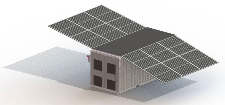 QESC Integrated Energy Storage and Solar Module