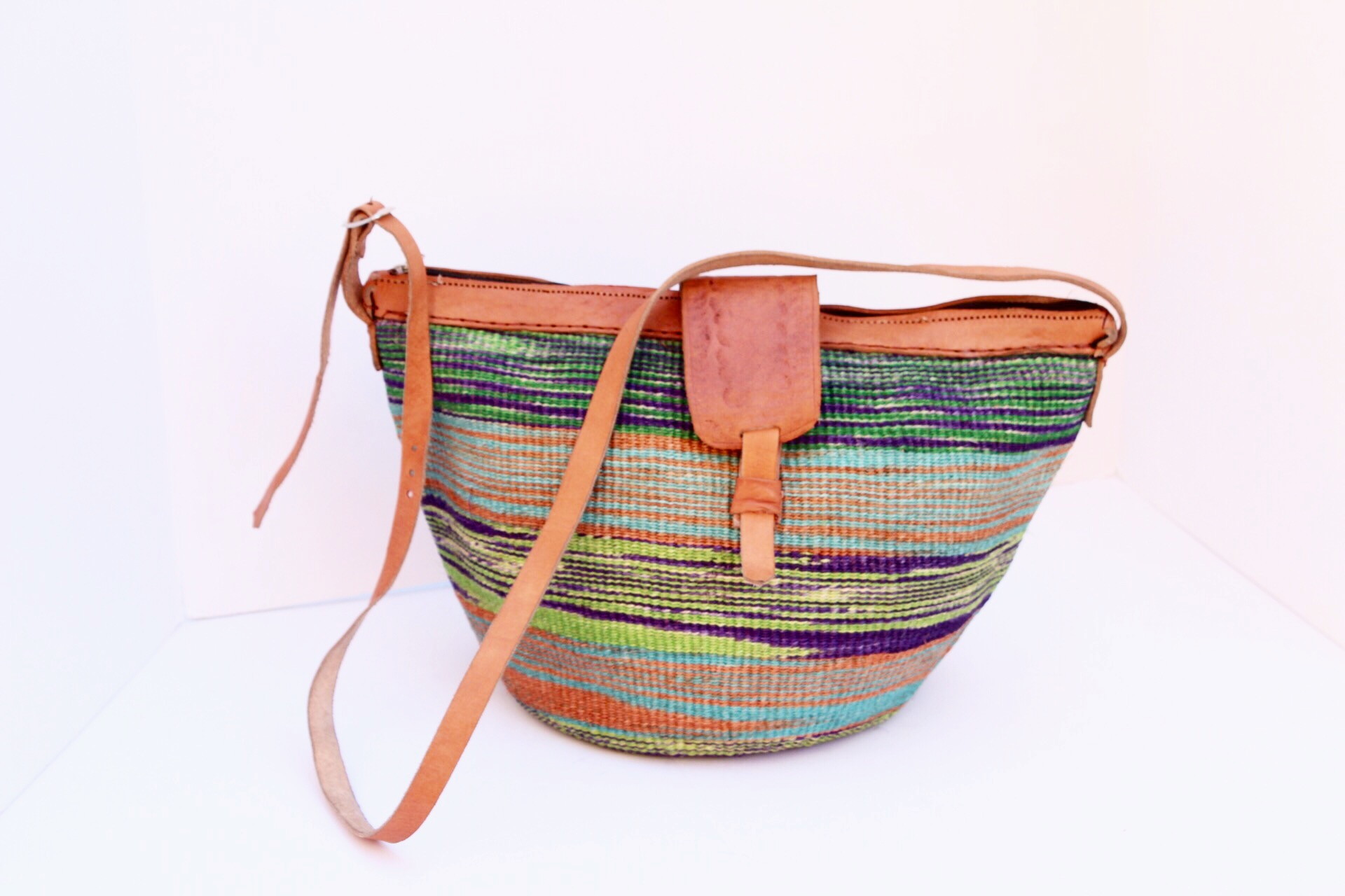 7eb2328eb300 Multi Colored Straw Bag — African Cultural Art Forum